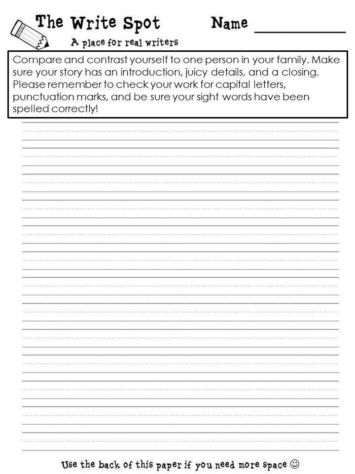 The Write Spot! {a homework freebie}