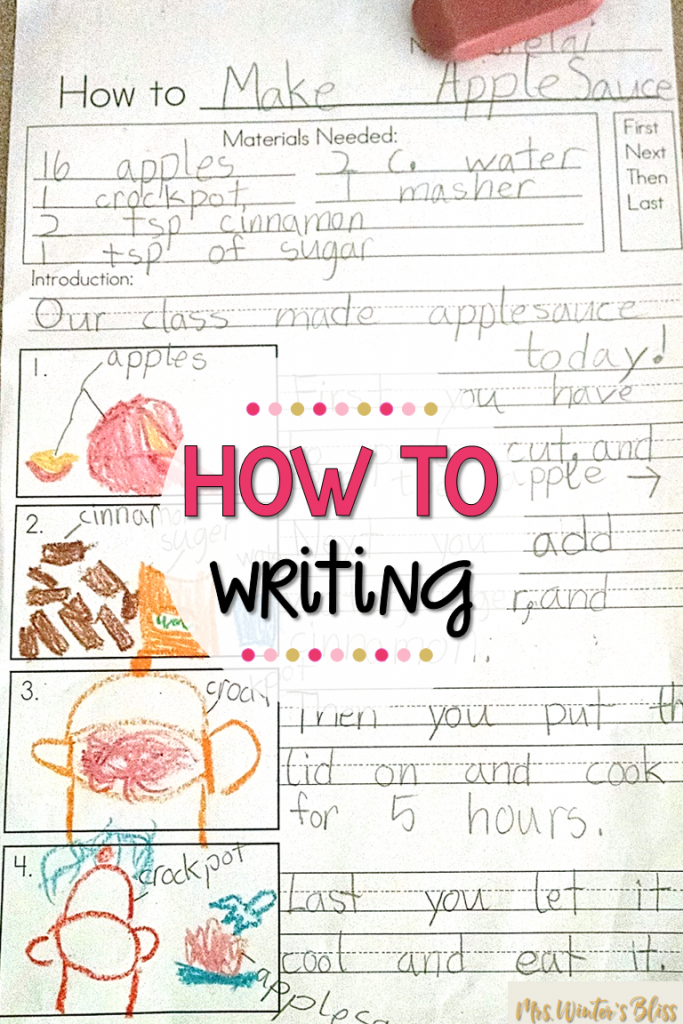 how to make applesauce writing