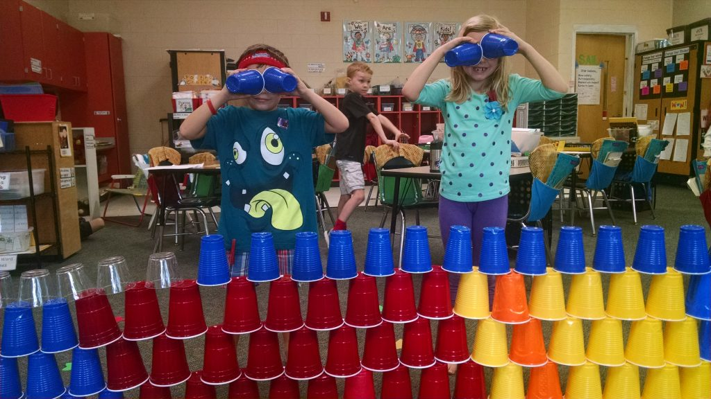 cup stacking morning tub activities