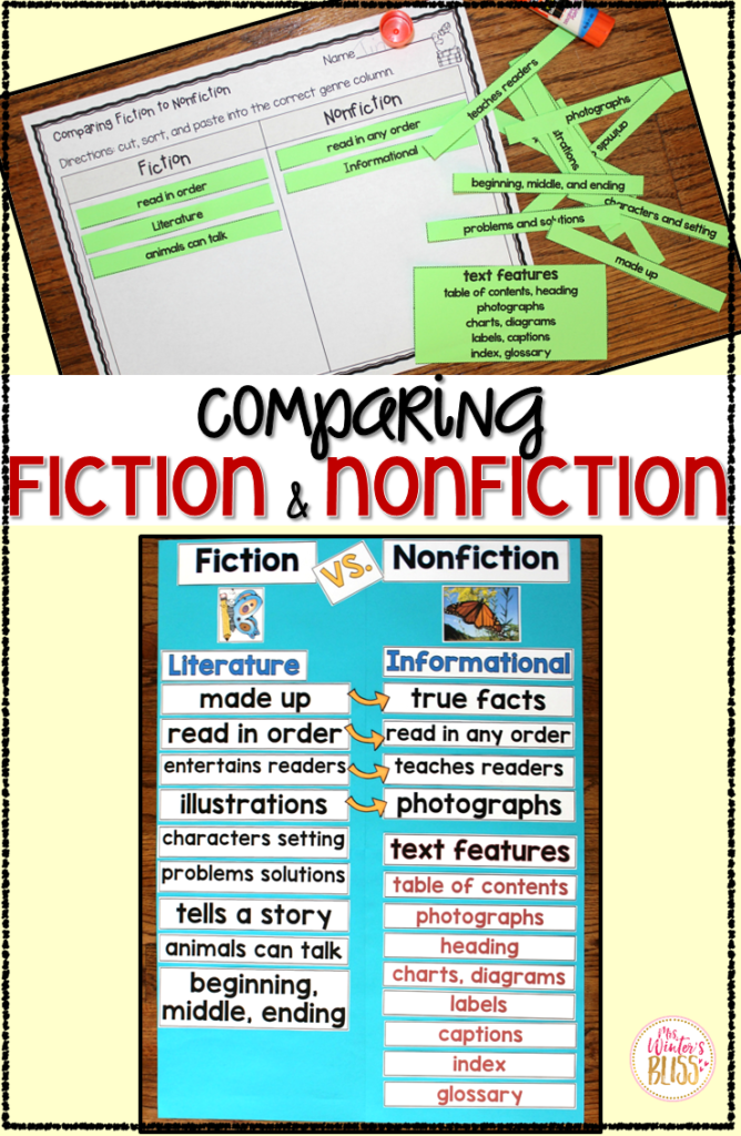 Fiction VS. Nonfiction Teaching Ideas
