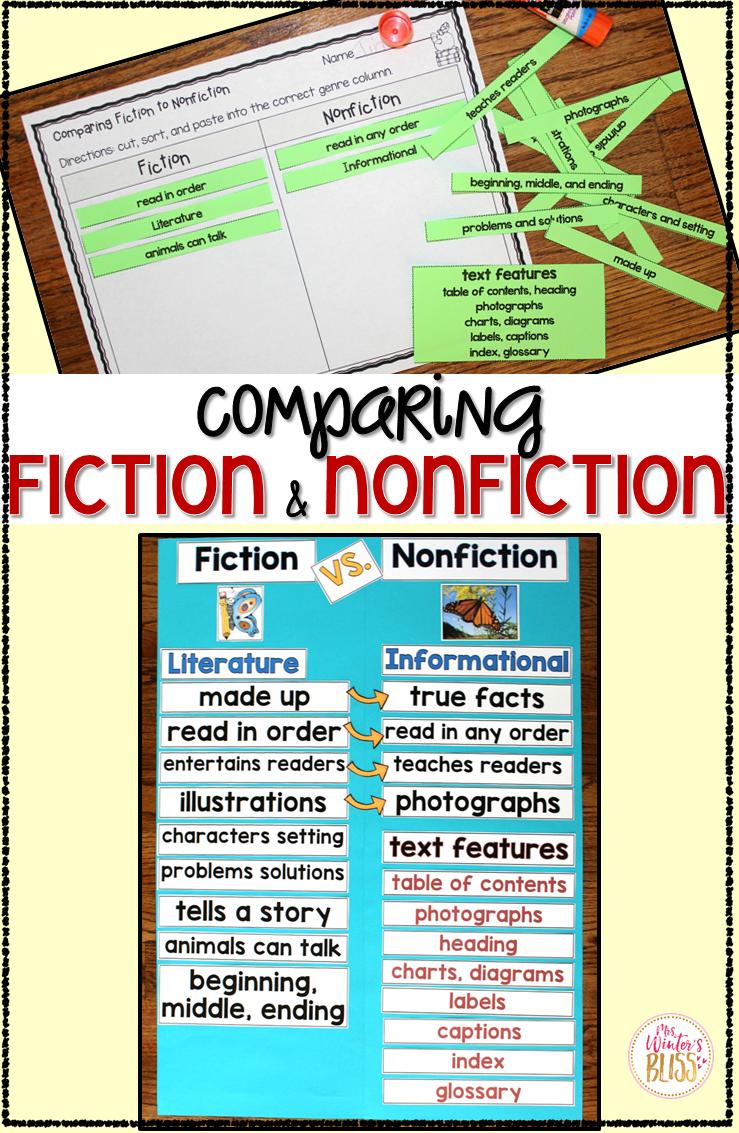 Fiction VS. Nonfiction Teaching Ideas - Mrs. Winter\'s Bliss