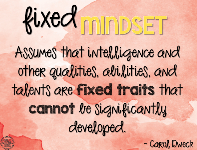 fixed mindset poster