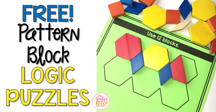 image about Printable Pattern Blocks referred to as Habit Block Logic Puzzles - Mrs. Winters Bliss