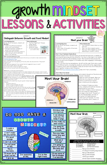 Growth Mindset Lessons And Activities Mrs Winter S Bliss