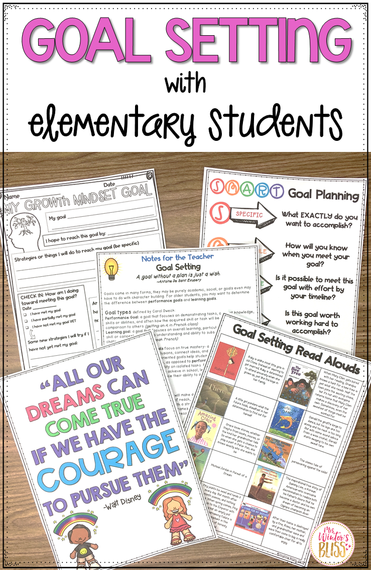 Goal Setting With Elementary Students - Mrs  Winter's Bliss