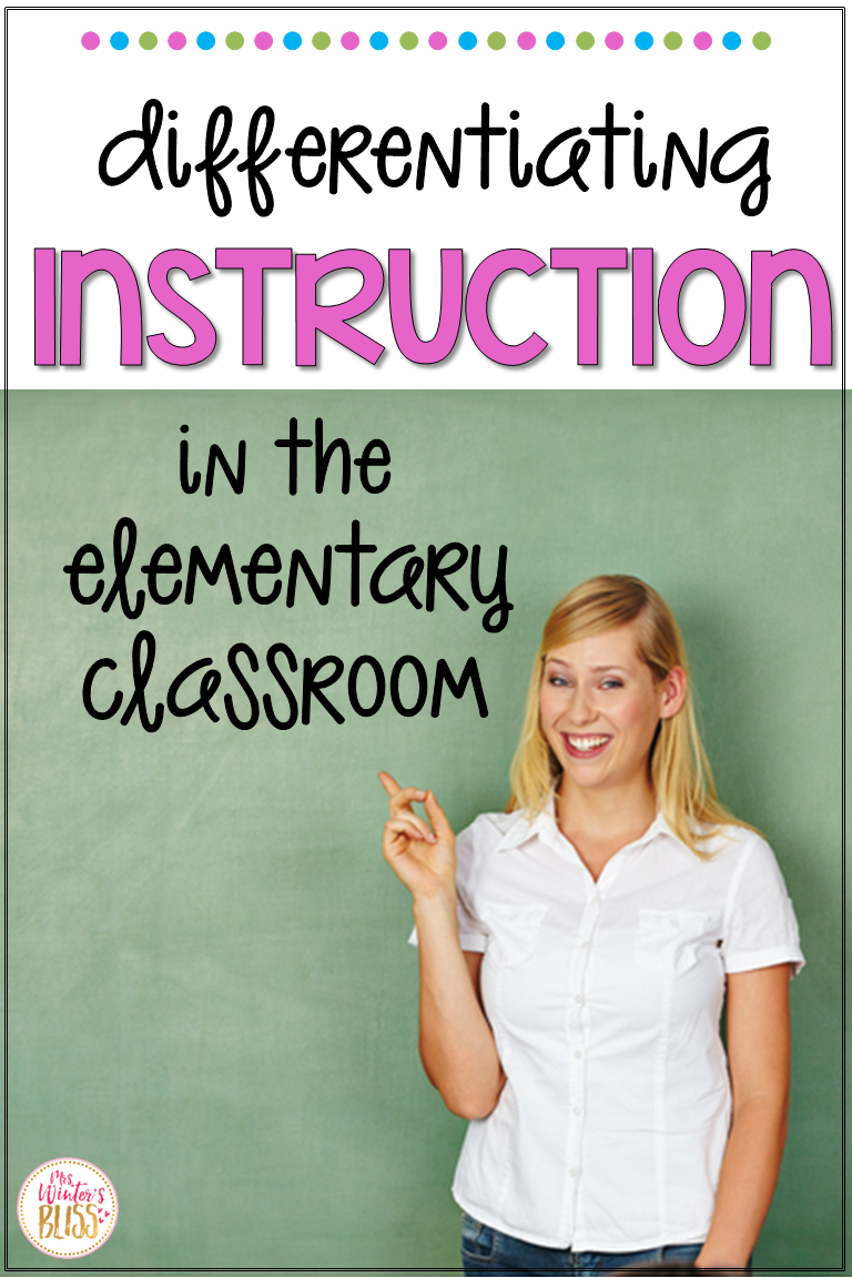 Ideas and activities to help you easily differentiate instruction in the elementary classroom. Several center ideas perfect for kindergarten, first and second grade. #elementary #activities #differentiation