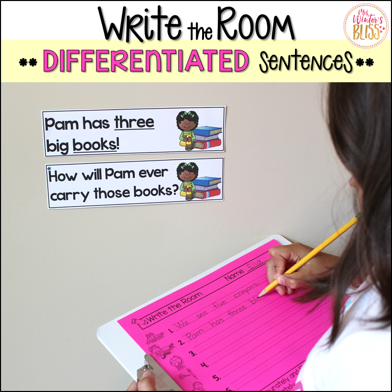 write the room differentiated sentences