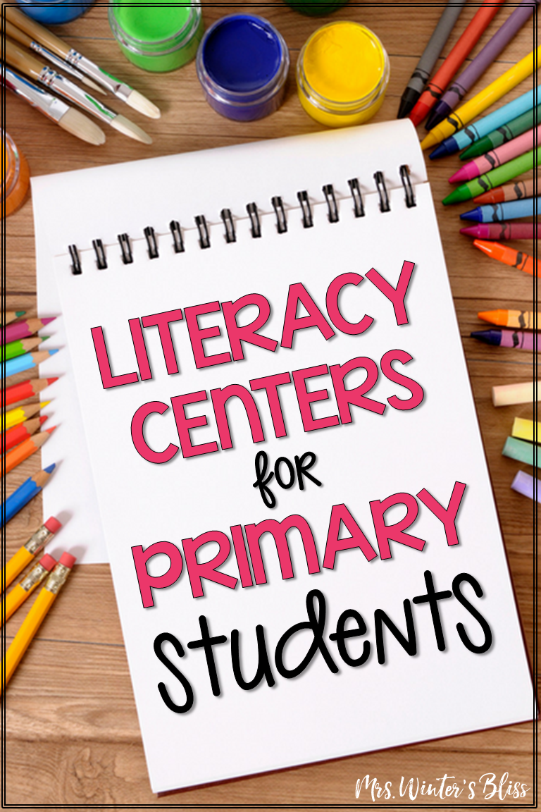 This post shares 12 reading center ideas for kindergarten, first, and second grade elementary students that are rigorous and engaging. There are several free literacy activities to download for your students to use in daily 5 workstations. #daily5 #literacycenters #teachingwriting #teachingreading #teachingsightwords #freecenters #mrswintersbliss