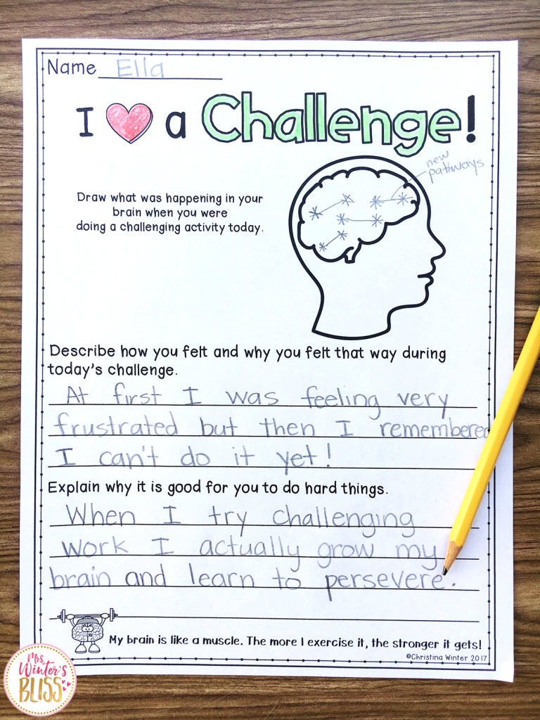 growth mindset challenge lesson