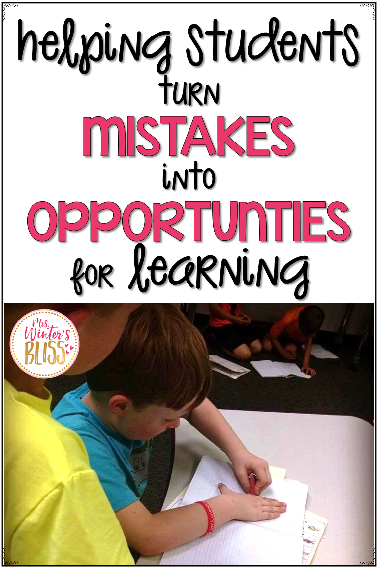 Growth mindset ideas and activities helping students learn that mistakes are part of the learning process. Easy to implement classroom lessons perfect for busy teachers. #teachinggrowthmindset #growthmindsetmistakes #famousfailures #teachingelementary #growthmindsetlessons #mrswintersbliss
