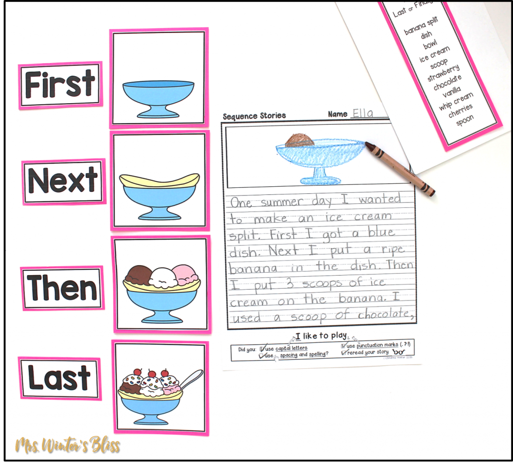 Teaching Story Retell and Sequence Writing - Mrs  Winter's Bliss