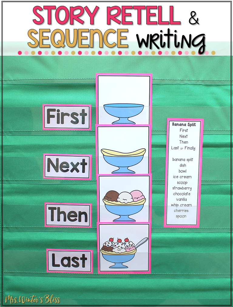 picture relating to 4 Step Sequencing Pictures Printable called Training Tale Retell and Series Producing - Mrs. Winters Bliss