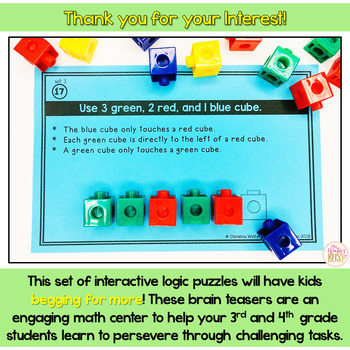 Math Logic Puzzles set 3 and 4 Bundle