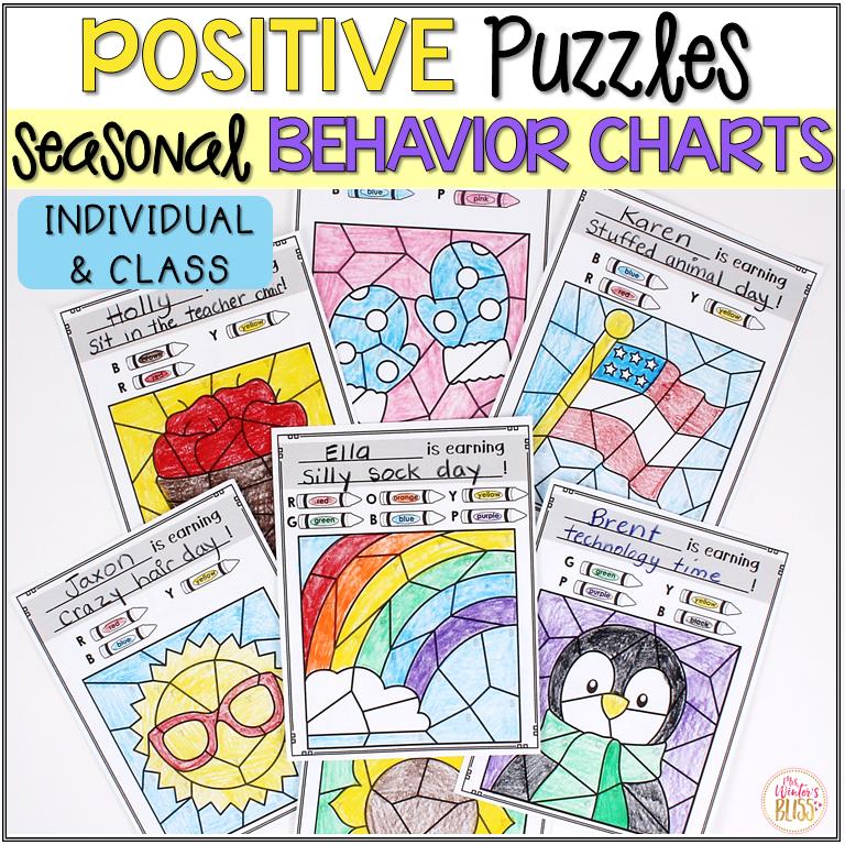 behavior chart puzzles