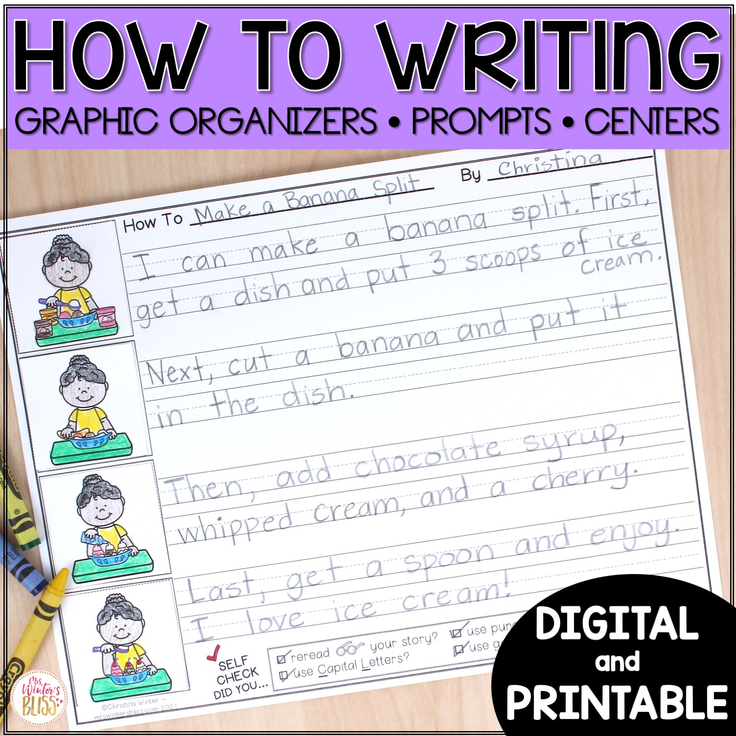 How To Writing Printable And Digital Procedural Writing Mrs Winter S Bliss